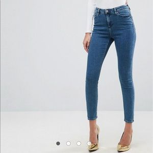 ASOS high waist Ridley skinny jean size 28 NWT